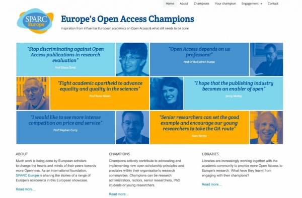 Europe's Open Access Champions launches
