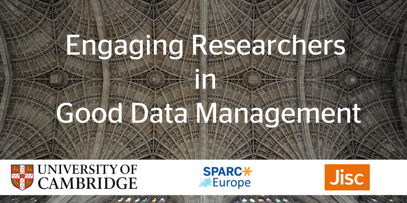 Engaging Researchers in Good Data Management
