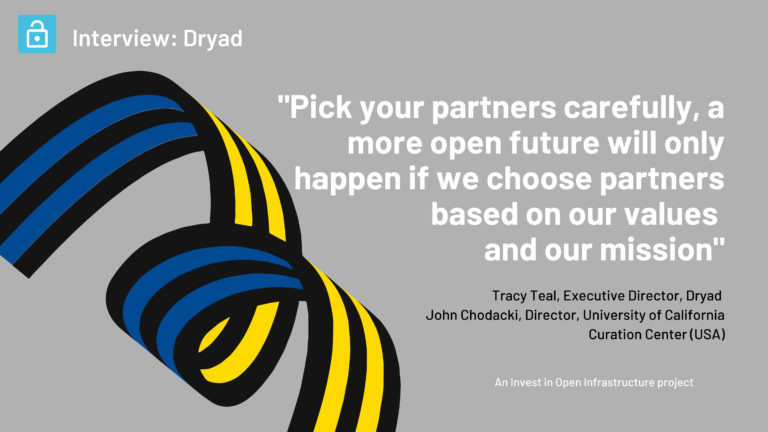 An interview with Tracy Teal,Executive Director, DRYAD and John Chodacki, Director, University of California Curation Center
