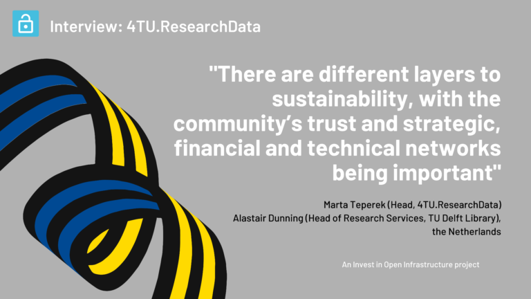 An interview with Marta Teperek and Alastair Dunning on 4TU.ResearchData