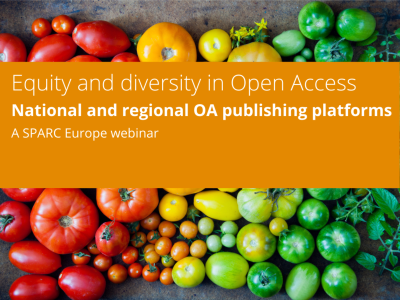 Equity and diversity in Open Access. National and regional OA publishing platforms. Webinar.